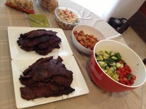 BBQ spread