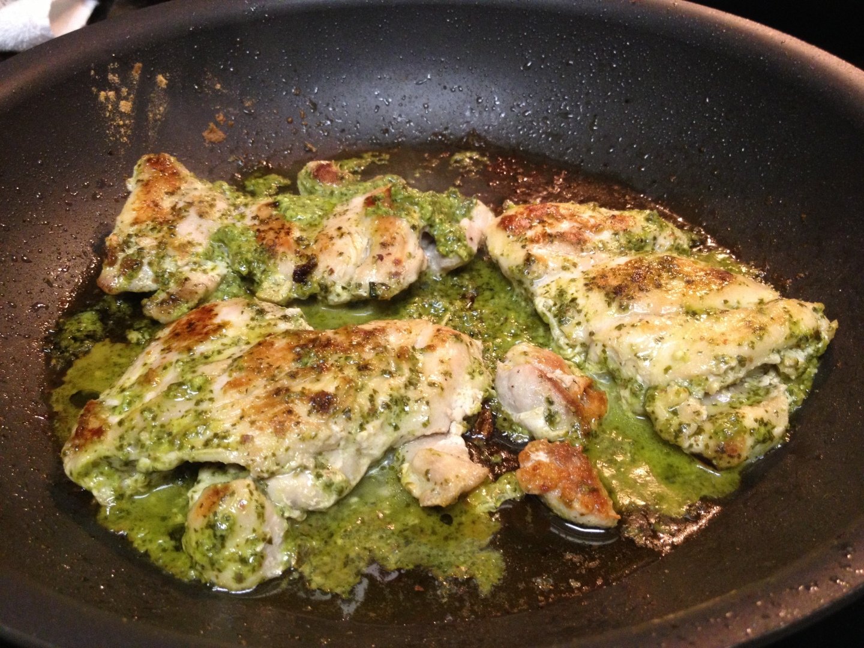 Paleo Catwon Pesto Chighs & Savoy Cabbage