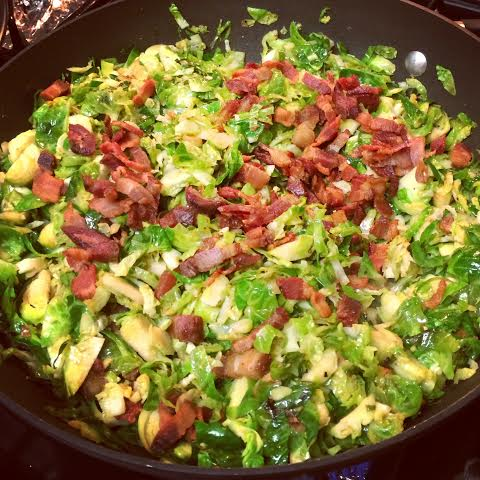 Paleo Catwon Bacon Shredded Brussies