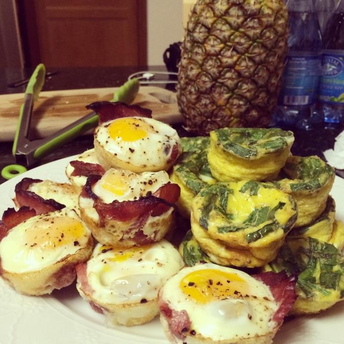 Paleo Catwon Chive & Ham Egg Muffins