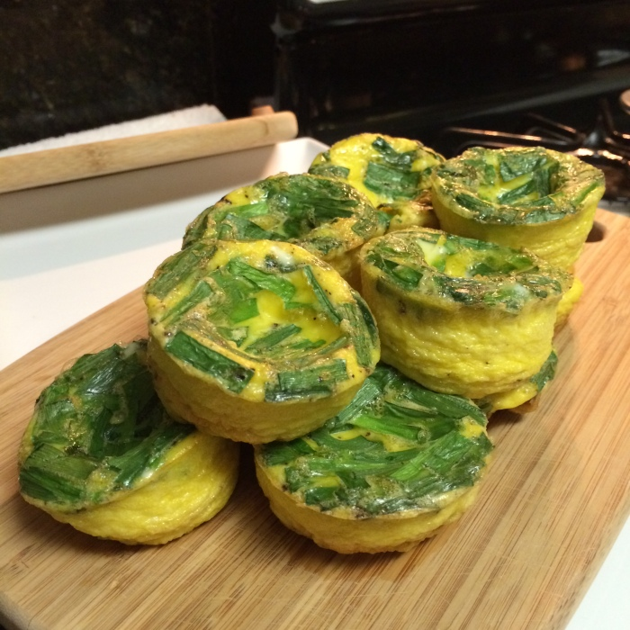 Paleo Catwon Chive Egg Muffins