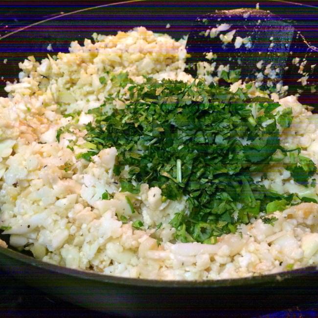 Paleo Catwon - Garlic Cilantro Cauli-Rice