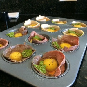 EASY Pesto Egg Muffins (Turkey, Roast Beef, Smoked Salmon) - Paleo Catwon