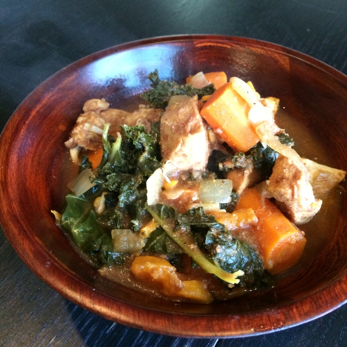 Paleo Catwon - Slow Cooker Chicken, Sweet Pot and Kale Stew
