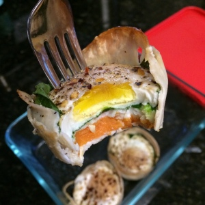 Paleo Catwon Turkey-Spinach-Sweet Potato Egg Muffins