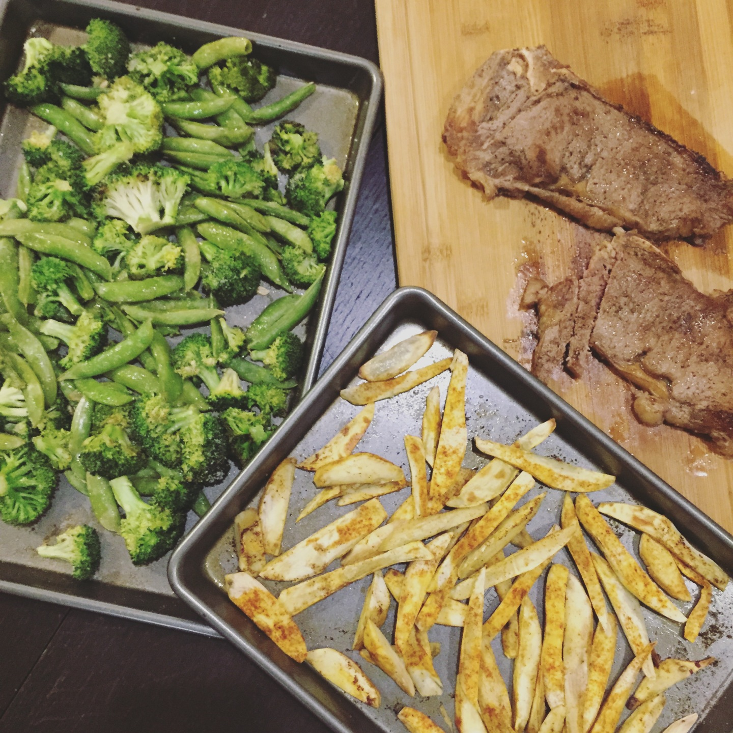 Paleo Catwon - Steak, Broccoli, Sweet Pots